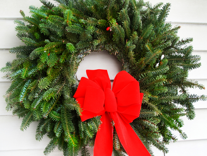 Christmas Wreath made from real greans, Fraser Fir cuttings