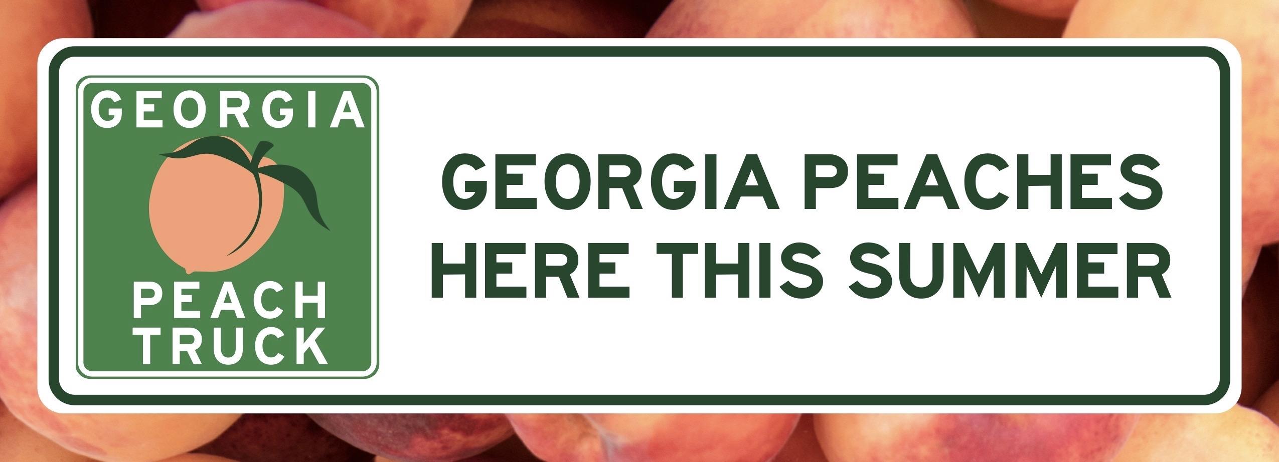 Georgia Peach Truck Banner